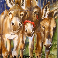 Donkeys | Price: $400 | 18x26
