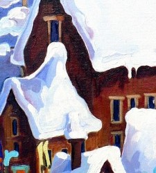 Snowy Village | Price:  $300 | 8x24