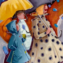 Polka dots & Umbrella | Price: $ 3500 | 24x36