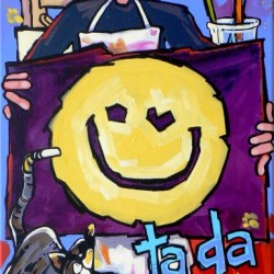 Wynne -the artist-Ta-da | Price: $400 | 15x30